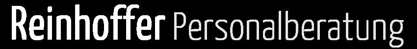 Reinhoffer Personalberatung Logo weiß grau